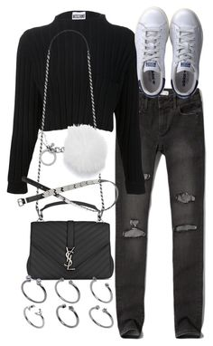 """""""Untitled #2174"""" by mariie00h ❤ liked on Polyvore featuring Abercrombie & Fitch, adidas, Yves Saint Laurent, MICHAEL Michael Kors, H&M and ASOS"""