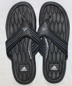6fa2286abc8e Adidas 9 USA Soft Comfort Ultra Foam Quickdry Sport Footbed Flip Flops  Sandals  adidas