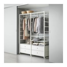 G wardrobe IKEA ELVARLI 2 sections White 165x55x216 cm You can always adapt or complete this open storage solution as needed. Maybe the combination we've suggested ...