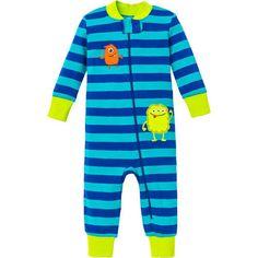 Little-Me-Boys-1-piece-Sleeper-Blue-Monster