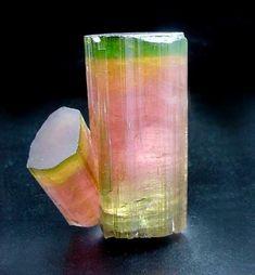 "Tourmaline ,( Elbaite), Himalaya Mine, Mesa Grande, San Diego County. From the ""Green Pocket"" December 1993, 5.5 cm tall."