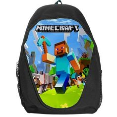 minecraft backpack | Minecraft Creeper Leather Backpack for ...