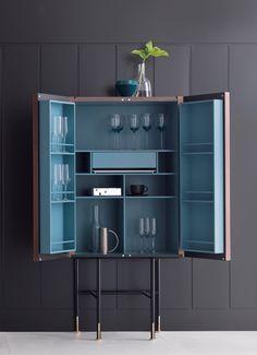 Modern Bar Cabinet, Home Bar Cabinet, Modern Cabinets, Bar Cabinets For Home, Cabinet Furniture, Furniture Design, Home Bar Furniture, Bar Unit, Home Bar Designs