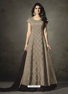 Jennifer Winget Grey Color Silk Designer Anarkali Suit Choose From Our Latest Collection Of Women Ethnic Wear, Ethnic salwar suits, Bridal salwar suit. Designer Anarkali, Designer Gowns, Indian Designer Wear, Anarkali Dress, Anarkali Suits, Indian Gowns, Indian Outfits, Party Kleidung, Floor Length Dresses