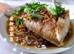 金针菇蒸鱼