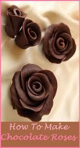 How to make chocolate roses like these