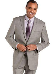 Suits - Calvin Klein Gray Modern Fit Suit - Men's Wearhouse