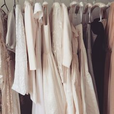 All the pretty dresses waiting for pretty brides #Bridal #bespoke #wedding #taradeighton #silk #weddingdress #hastings