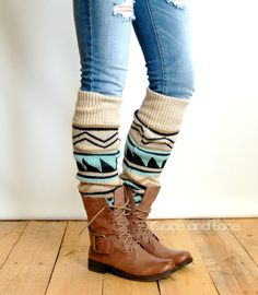 808723230de5 Aztec Legwarmers Cute High Socks Outfits