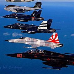 "Vintage Aeroplanes retrowar: ""Nice stack of birds… "" - Military Jets, Military Aircraft, Air Fighter, Fighter Jets, Photo Avion, Navy Aircraft, Fighter Aircraft, Aviation Art, Aircraft Carrier"