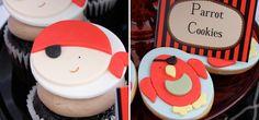 Cupcakes y galletas monísimas para una fiesta pirata / Cute cupcakes and cookies for a pirate party