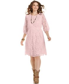 Ing Plus Size Three Quarter Sleeve Lace Dress Trendy Sizes