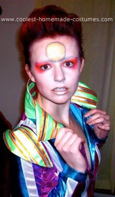Homemade Ziggy Stardust Costume I had tickets to a celebrity look-alike show and decided to work with what I had - short bright red hair ...  sc 1 st  Pinterest & 8 best Ziggy Stardust images on Pinterest | David bowie costume ...