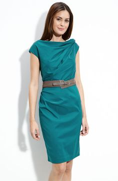 { Suzi Chin for Maggy Boutique Twist Neck Belted Sheath Dress, from Nordstrom [$128] }