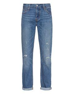 Destroyed Boyfriend-Jeans 501 Levi´s Jeans sind Kult...  ...so wie diese locker geschnittene Boyfriend-Denim im blauen Washed-Out-Look mit hüftigem Bund und dezenten Destroyed-Elementen.  Absolut lässig - perfekt für jeden Tag!
