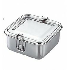 d002d31221 Qualways Stainless Steel Square Shaped Lunch box Food Container with Tray  Kids