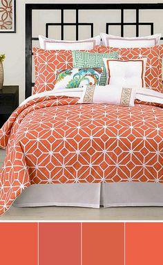 Macy's Trina Turk Coral Comforter