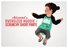 My Sims 3 Blog: Chisami's Oversized Hoodie & Pants for Toddlers