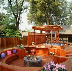 Enhance your deck with a fire pit or hot tub!