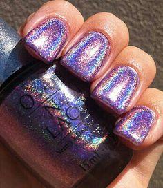 ♡ @𝓋𝒾𝓋𝒶_𝓋𝒾𝓋𝒶𝒸𝒾𝑜𝓊𝓈 ♡ #nails #sparkle #shine #rainbow #silver #metallic #opi