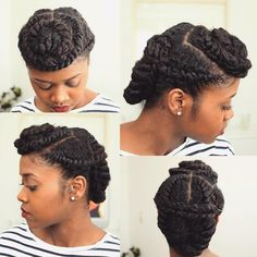 """""""By @flawlesshairstyle ・・・ Protective Hairstyle. Did a combination of the last two styles."""""""