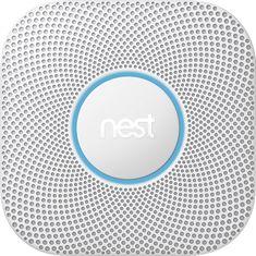 Nest - Protect 2nd Generation (Battery) Smart Smoke/Carbon Monoxide Alarm - White, S3000BWES