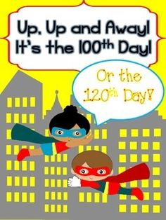 Freebie! Inspired by the adorable 100th Day packet from Mrs. Miner's Monkey Business, I created a couple of items to go along with our superhero capes!    *Permission was given to create this product!  100thDayofSchoolSuperHeroCapeKitforaFamilyProject,  This mini packet for your superheroes contains:  bracelet (girls)/cuff (boys) reproducible blank emblems for students to design original 100th or 120th Day poem  Thanks for looking and have a SUPER 100th or 120th Day!