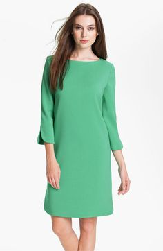 Eliza J Split Cuff Boatneck Shift Dress available at Nordstrom like Kate Middleton's Green Dress