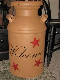 I so know what I am going to do with the milk can I found. Made from an old milk can.