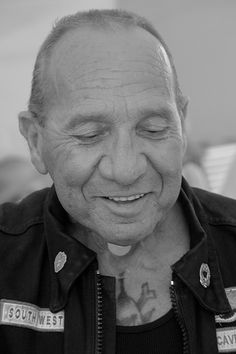 Sonny Barger of the Hells Angels by davegolden. The Hells Angels provided muscle for the Mob on the east coast.
