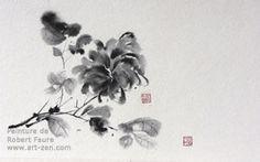 Robert Faure Peinture tchan et Sumi-e Video France, Tinta China, Japanese Painting, Faure, Flowers, Plants, Image, Chinese, Pintura