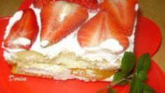 Nepečený ovocný koláč