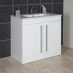 Icona Classic White Floor Standing Vanity Unit & Basin - 900mm Width   Icona Classic 5060184437578
