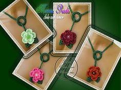 felt, fabric and crochet necklace pattern | make handmade, crochet, craft