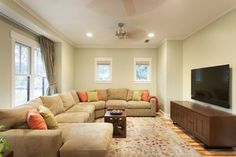 Family/Media - contemporary - family room - austin - Heimsath Architects-Benjamin Moore Guilford Green