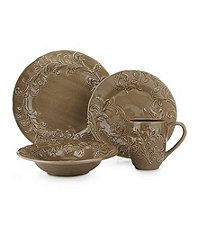 Noble Excellence \ Embossed floral\  Mocha Dinnerware Dillards  sc 1 st  Pinterest & Noble Excellence Taylor Dinnerware #Dillards   TableScapes...Table ...