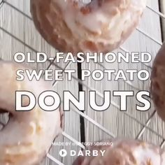 How to Make Old-Fashioned Sweet Potato Donuts #darbysmart #recipes #desserts #baking #sweets #donuts #doughnuts #sweetpotatoes #fallrecipe #pumpkinspice #foodie