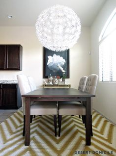Modern Neutral Dining Room #diningroom #ikea #maskros