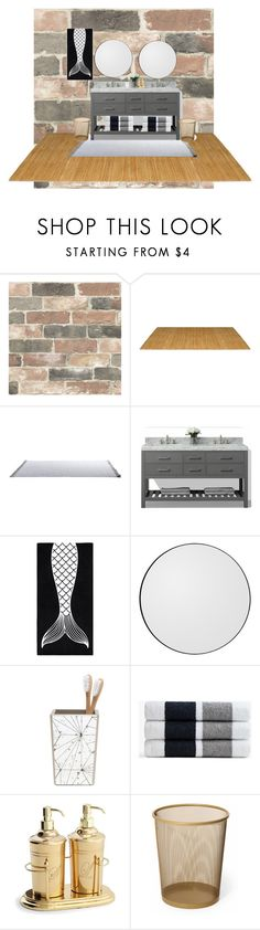 """""""bathroom 1"""" by shyanne-andrade ❤ liked on Polyvore featuring interior, interiors, interior design, home, home decor, interior decorating, Wall Pops!, PBteen, AYTM and Pigeon & Poodle"""