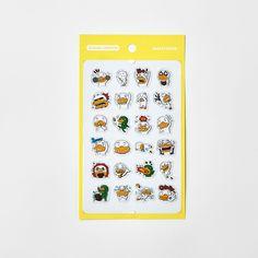 Korea Kakao Talk Friends Character Transparent Mini Sticker Tube ver1 #KakaoFriends #Transparentstickers