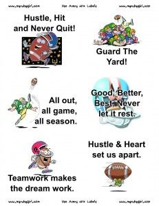Football Treat Bag Stickers, Free Printables