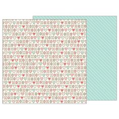 Pebbles - Forever My Always Collection - 12 x 12 Double Sided Paper - Freshly Baked