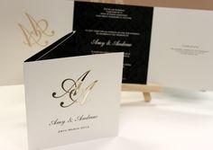 Laser Cut Monogram Wedding Invitation