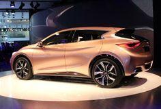 Brand new Infiniti Q30 concept hatchback at the Frankfrut Auto Show