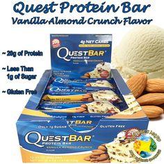 Quest Protein Bar Vanilla Almond Crunch Flavor
