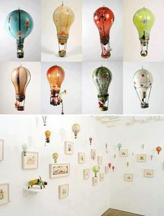 Love the recycled light bulbs