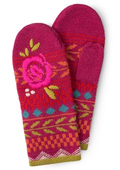 Colorful Clothing – Artsy Swedish Women's Selections Wool Gloves, Knitted Gloves, Kitsch, Gudrun, Thanks For The Memories, Recycled Fabric, Colorful Fashion, Winter Christmas, Scandinavian Design