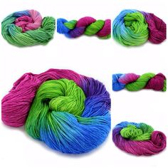 Summer  refreshment is available on 4 fingering weight bases, worsted & bulky alpaca/merino