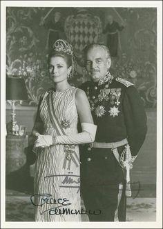 A signed photo of Princess Grace.