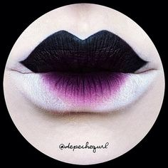 @Depechegurl created this brilliant geisha mod lip using #sugarpill Poison Plum and 2am eyeshadows. Love her work!